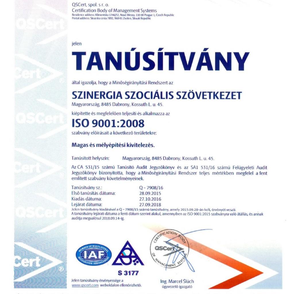 ISO 9001:2008 Magyar