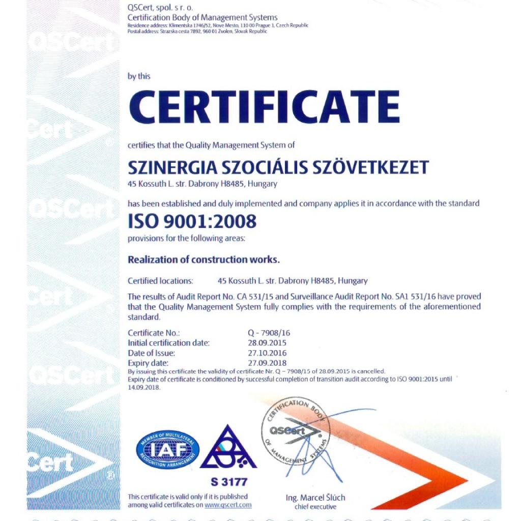 ISO 9001:2008 Angol